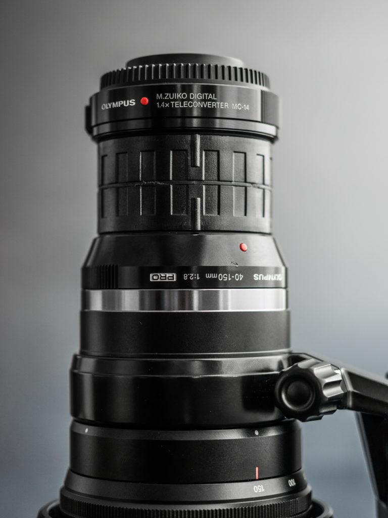 Optech double rear lens cap with teleconverter