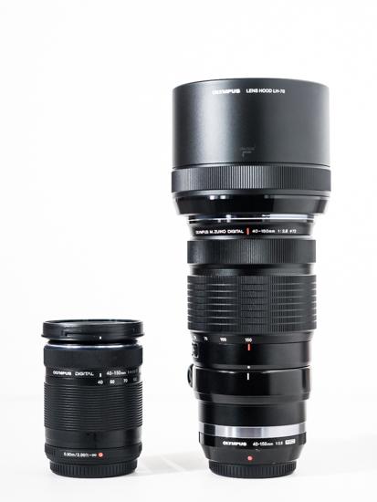 Olympus 40-150mm lens comparison